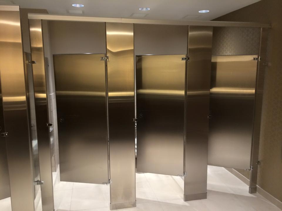 Weston Banquet Hall Bathroom Partition Installation